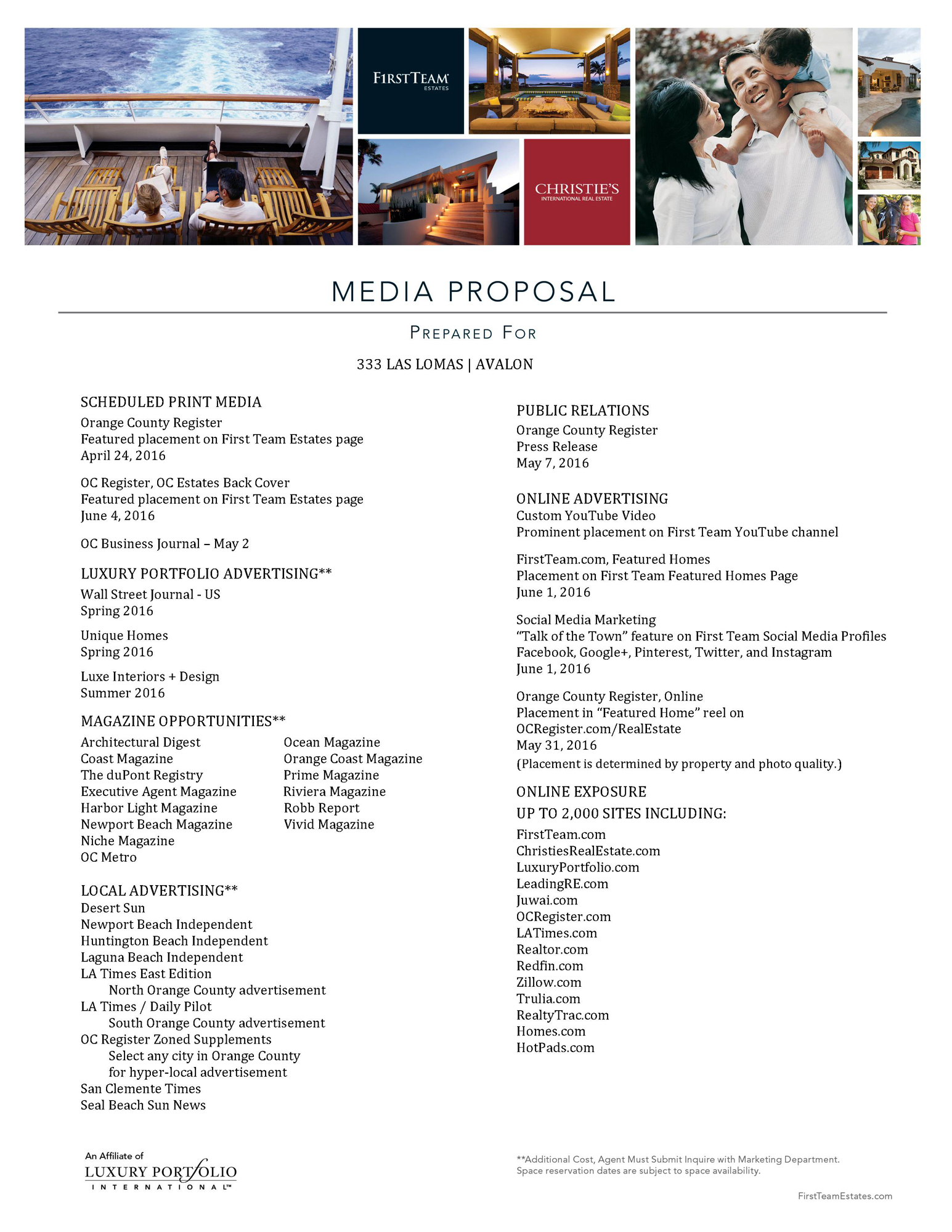 333 Las Lomas Media Proposal