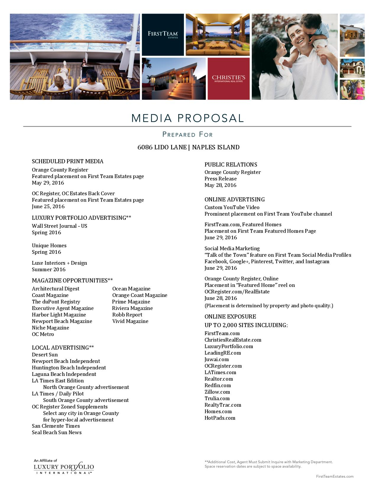 6086 Lido Lane Media Proposal