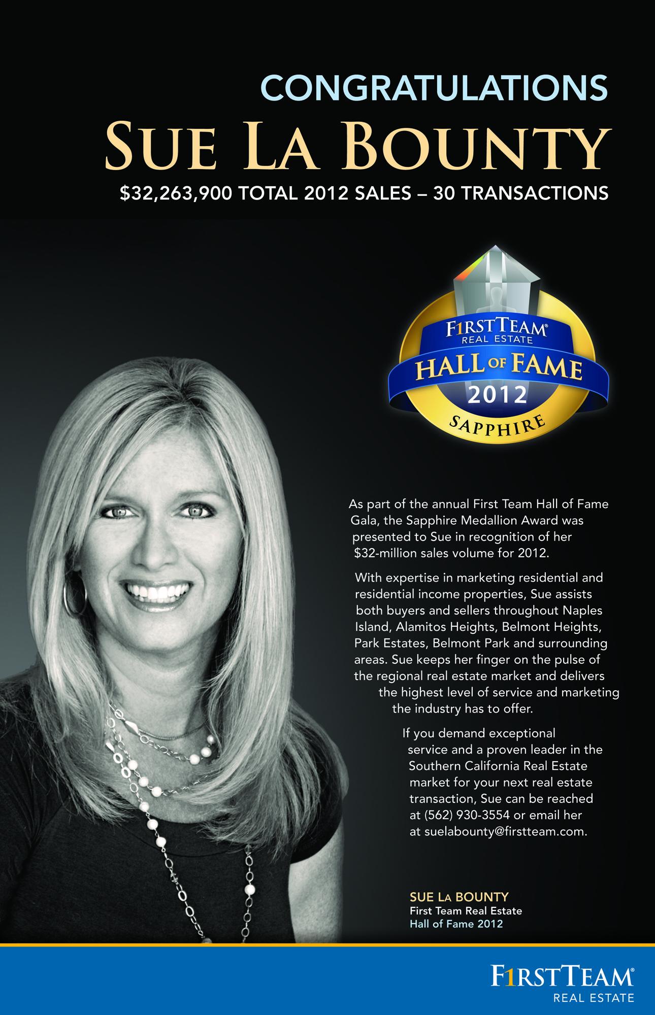 Sue La Bounty Sapphire Award 2012 Ad
