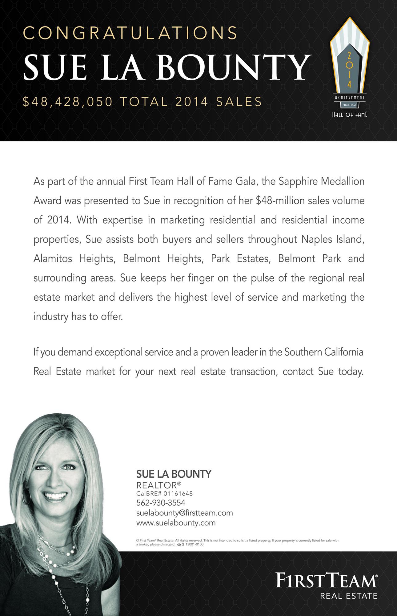 Sue La Bounty Sapphire Award 2014 Ad